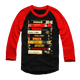 CRAVEN OR DIE RED SLEEVE BASEBALL TEE