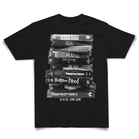 VHS OR DIE SHIRT BLACK - Studiohouse Designs