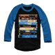 CARPENTER OR DIE BLUE SLEEVED BASEBALL TEE