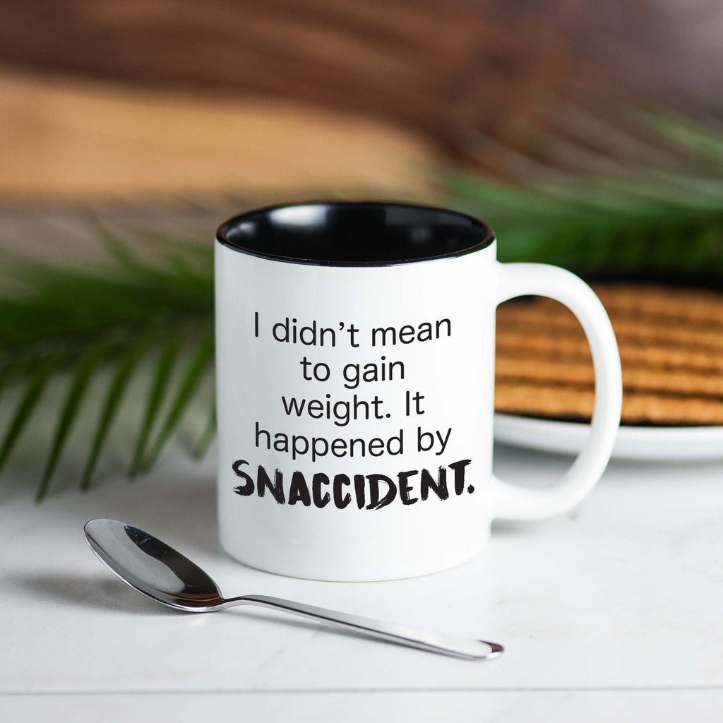 'I Didn't Mean to Gain Weight. It Happened by Snaccident' Coffee Mug, Mugs, coffeeovercardio, coffeeovercardio