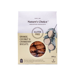 Nature's Choice - Orange, Coconut & Cranberry Biscuits (200g)