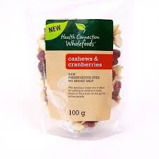 Health Connection Wholefoods - Cashews and cranberries (100g)