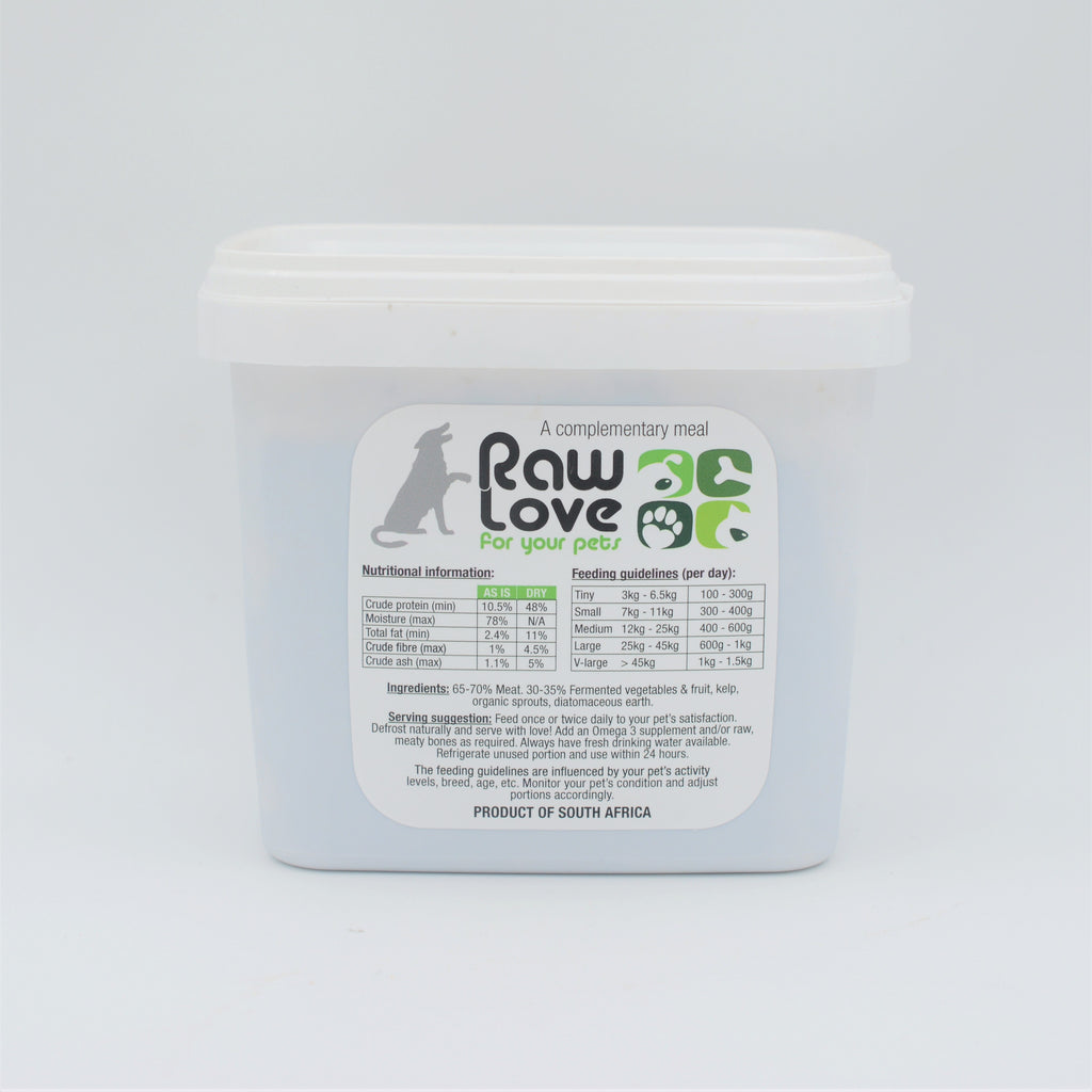 Raw Love Pets - Ostrich Meal For Dogs (1kg)