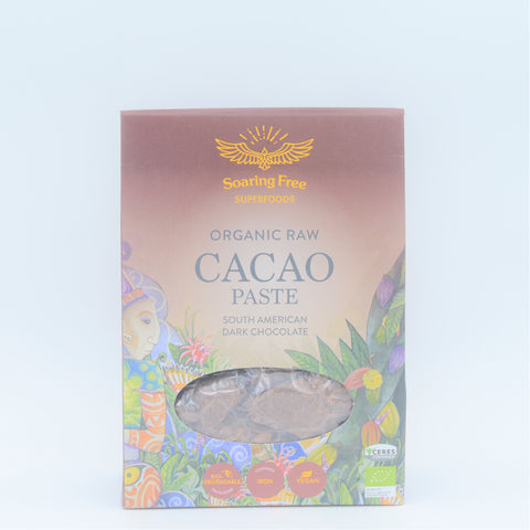 Soaring Free Superfoods - Organic Raw Cacao Paste (200g)