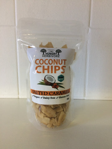 The Hungry Herbivore  Coconut Chips Salted Caramel - 50g