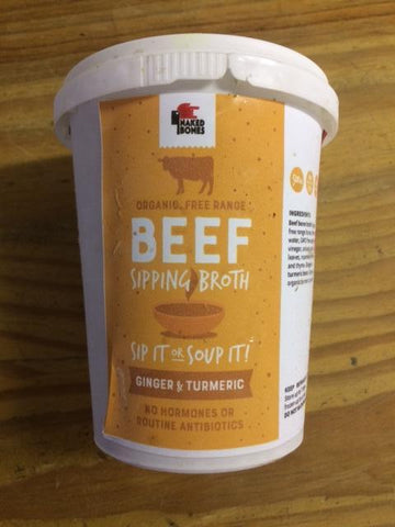 Naked Bones - Ginger & Turmeric Beef Sipping Broth (500ml)