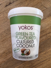 Yokos - Green Tea Flavoured Coconut Yoghurt (500g)