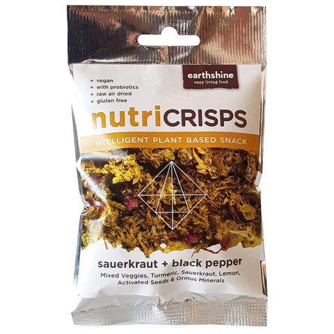 Earthshine - Nutri Crisps Sauerkraut & Black Pepper (25g)