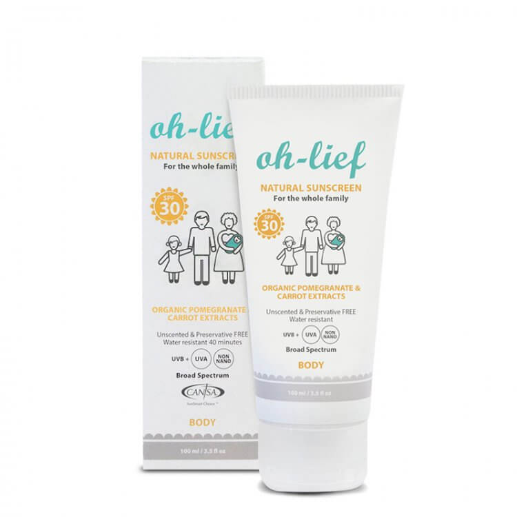 Oh-Lief - Natural Sunscreen Body SPF 30 (100ml)