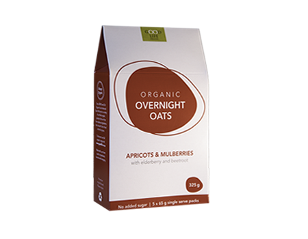 Good Life Organic - Overnight Oats Apricot & Mulberries (325g)