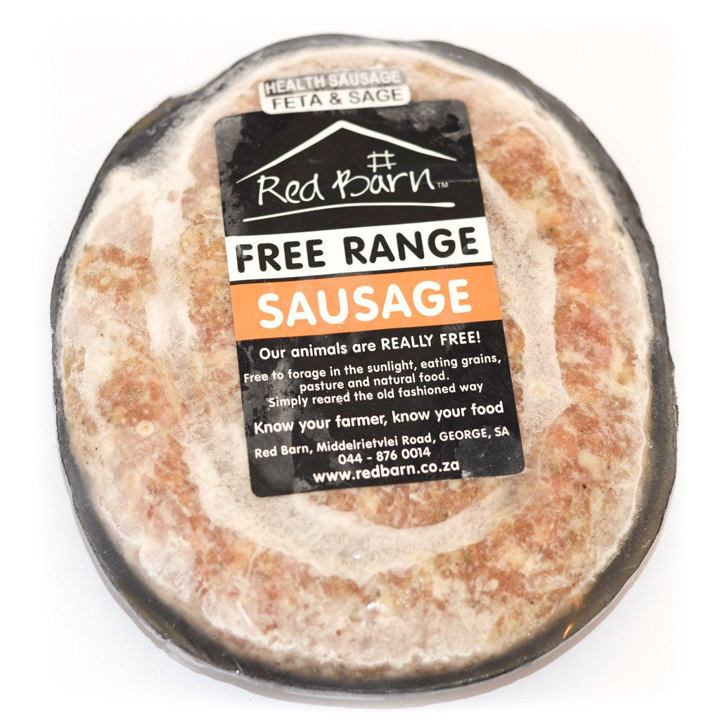 Red Barn Free Range - Chicken Sausage Feta and Sage (500g)