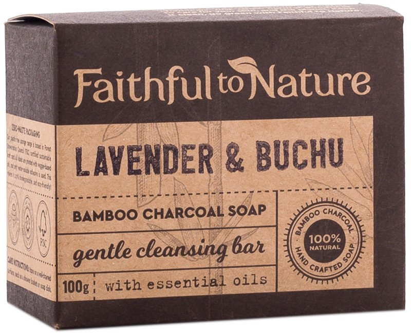 Faithful To Nature - Lavender & Buchu Charcoal Soap (100g)