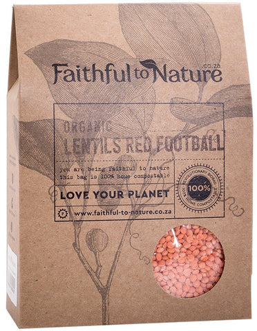 Faithful To Nature - Organic Lentils Red Football (400g)