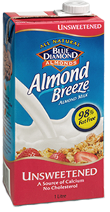 Blue Diamond Almond Breeze Almond Milk Unsweetened - 1L