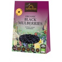 Soaring Free Superfoods Organic Black Mulberries (200g)