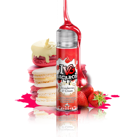 IVG Macarons - Strawberry Cream 0mg 50ml Shortfill E liquid