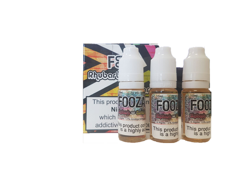 Fooza- Rhubard & Custard 3x10ml TPD