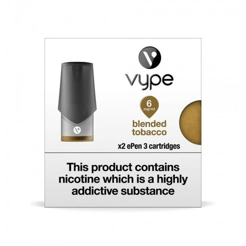 Blended Tobacco ePen 3 Prefilled Vape Pod by Vype
