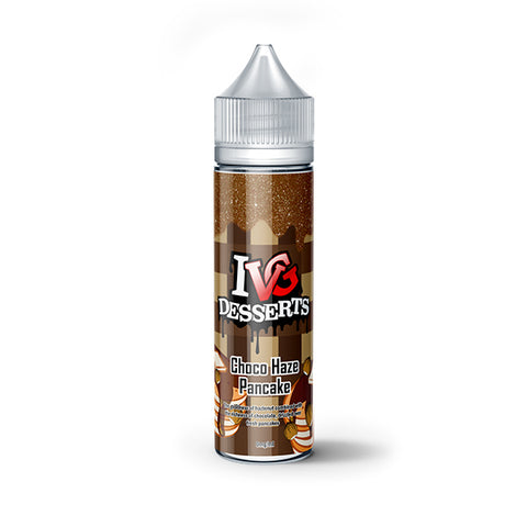 IVG Desserts - Choco Haze Pancake 0mg 50ml Shortfill E-Liquid