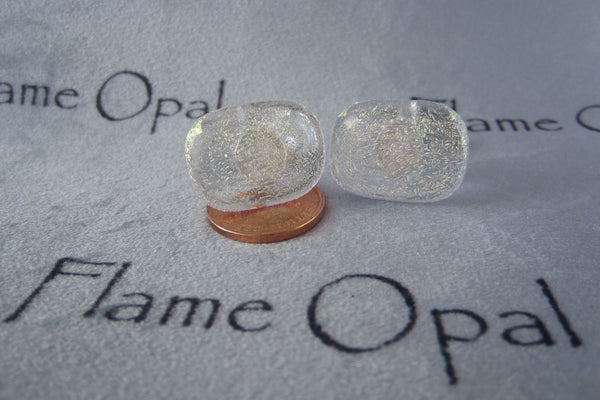 'Shattered Gold' Glass Cufflinks