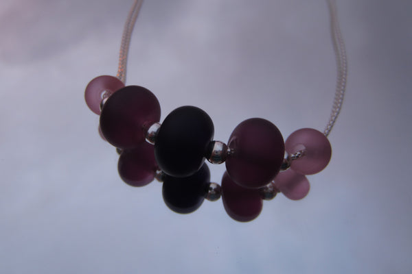 """Purple Passion"" Sea Glass Fine 925 Silver Necklace"