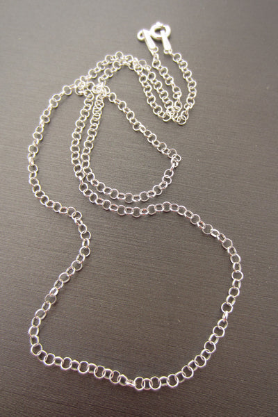 16 or 18 inch length 2mm Rolo 925 Sterling Silver Chain