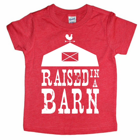 Raised in a Barn Kids Tee