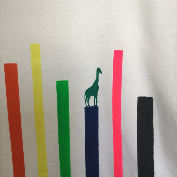 Sample Piece striped Giraffe T-Shirt