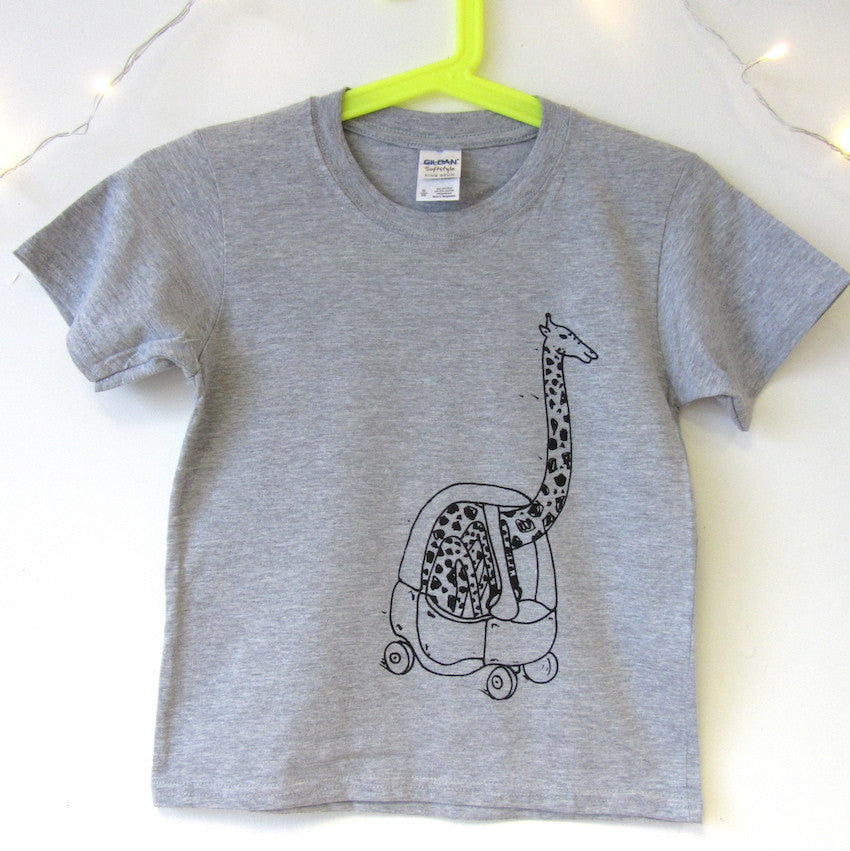 Kids Giraffe in a Little Tyke Sweatshirt/T-shirt
