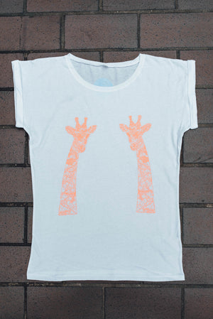 Giraffe Ladies Tunic T-Shirt