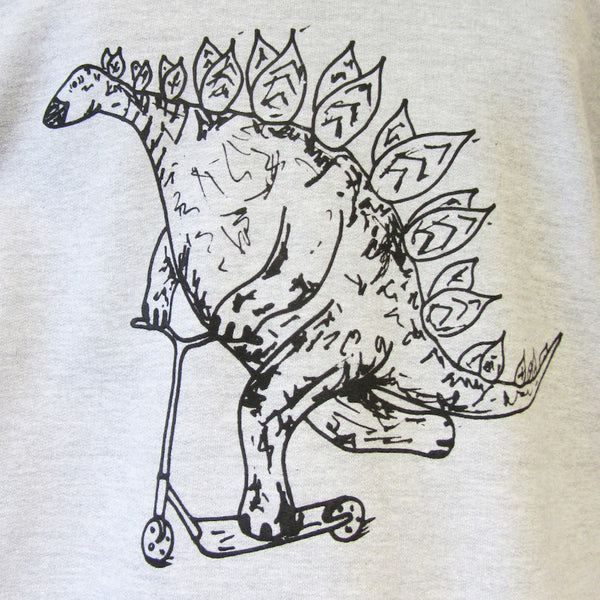 Stegasaurus on a Scooter Sweatshirt