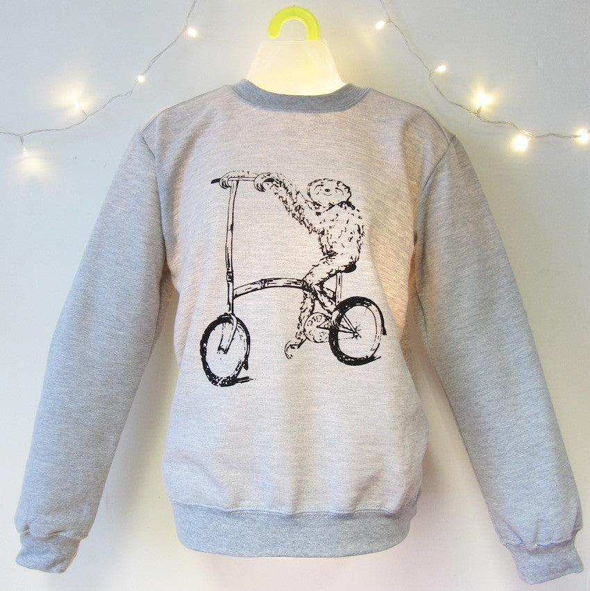 Sloth on a Brompton Sweatshirt