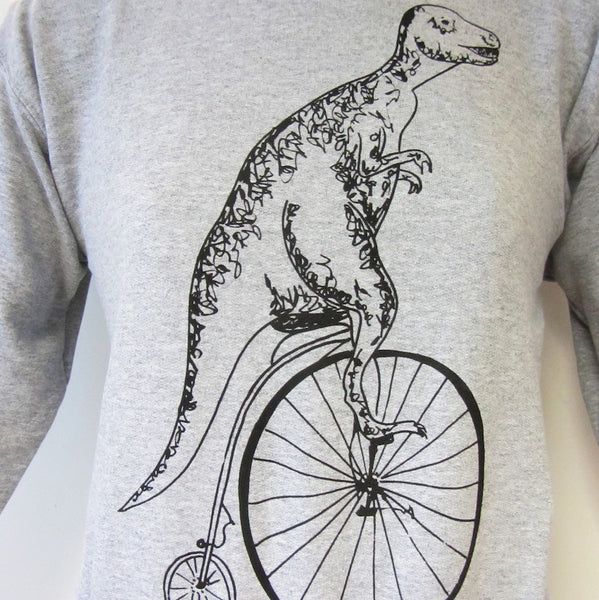 T-rex on a Pennyfarthing Sweatshirt