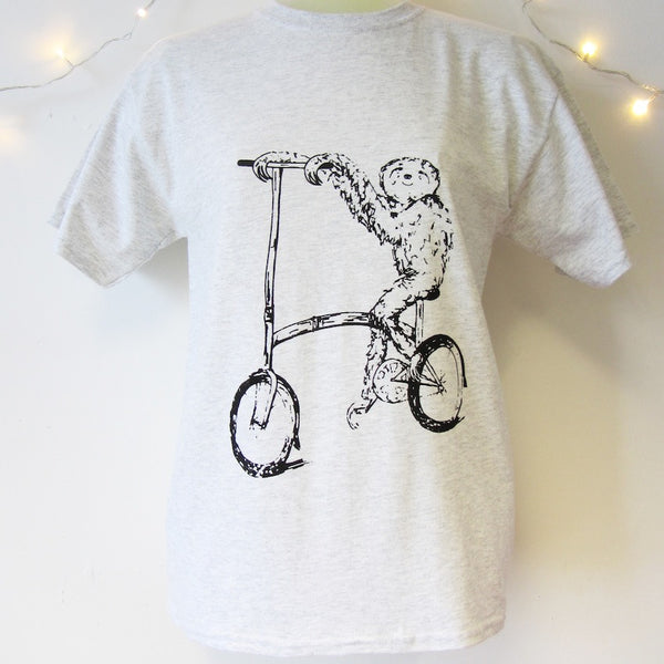 Sloth on a Brompton T-Shirt