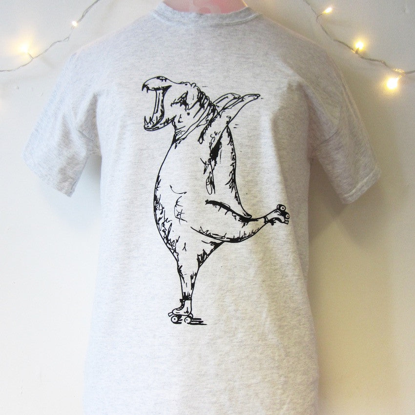 Hippo on Rollerskates T-shirt