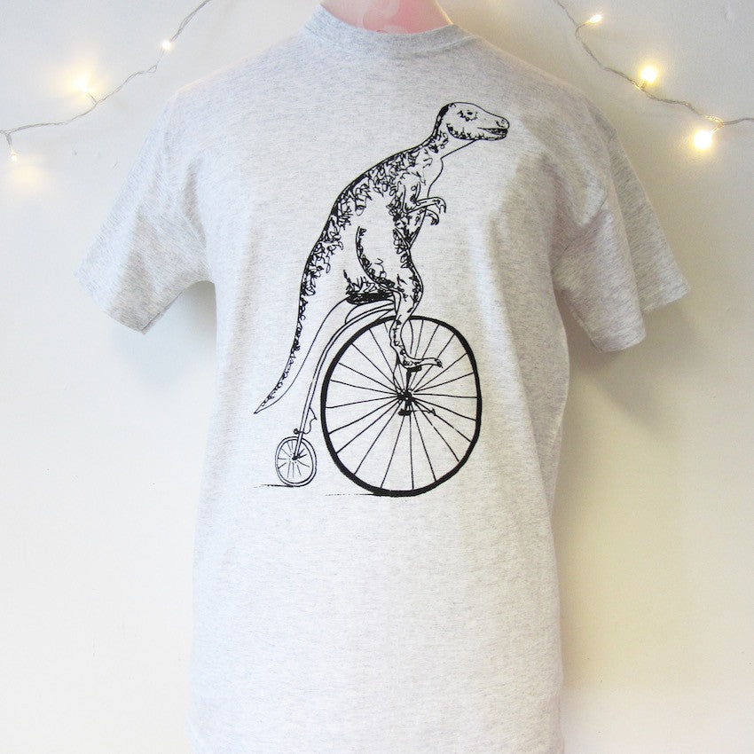 T-rex on a Pennyfarthing T-shirt