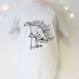 Stegosaurus on a Scooter T-Shirt