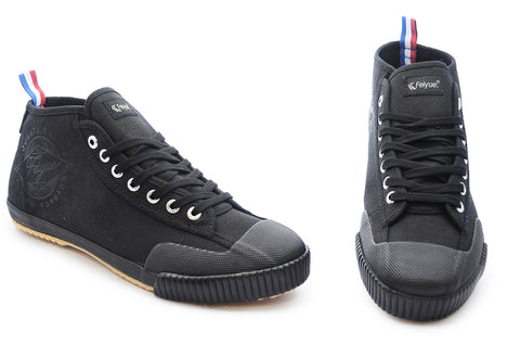 Feiyue Vintage Hi Canvas Sneakers - Black