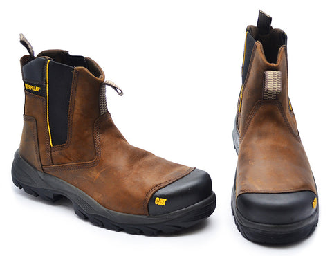 Uk Size 10 - Caterpillar Mens Brown Safety Boots - Propane