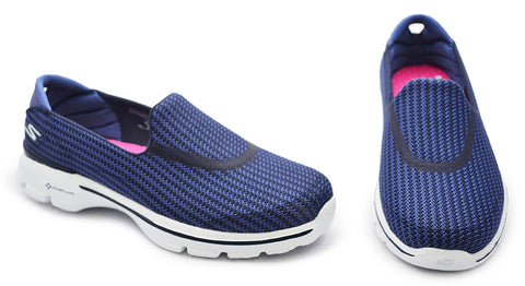 Skechers Ladies Navy Casual Shoes  - Go Walk 3
