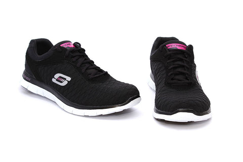 Skechers Ladies Lace Up Training Sneakers - Eye Catcher