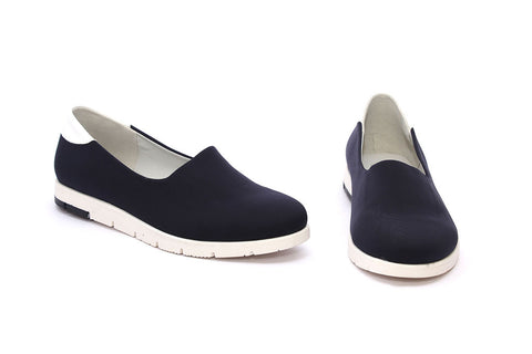 Butterfly Feet Ladies Navy Push In - Sunflower