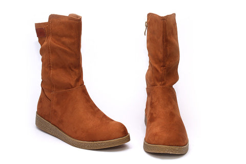 Butterfly Feet Ladies Tan Mid Boots - Torrie