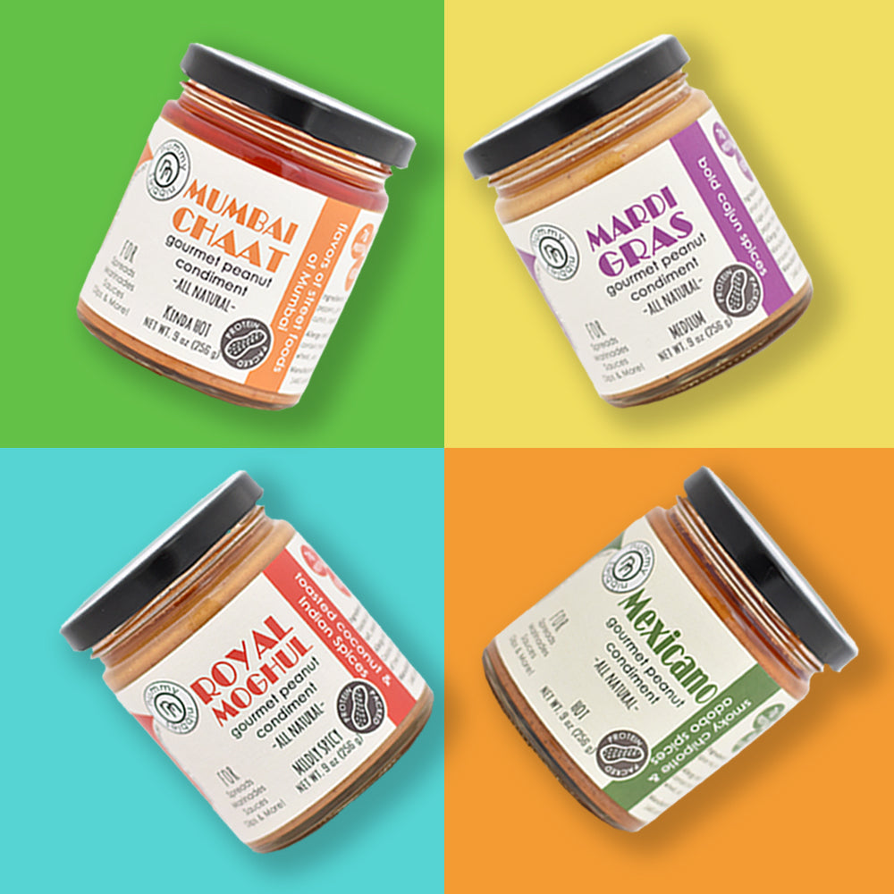 Gourmet Peanut Condiment - Pick your 3 Pack