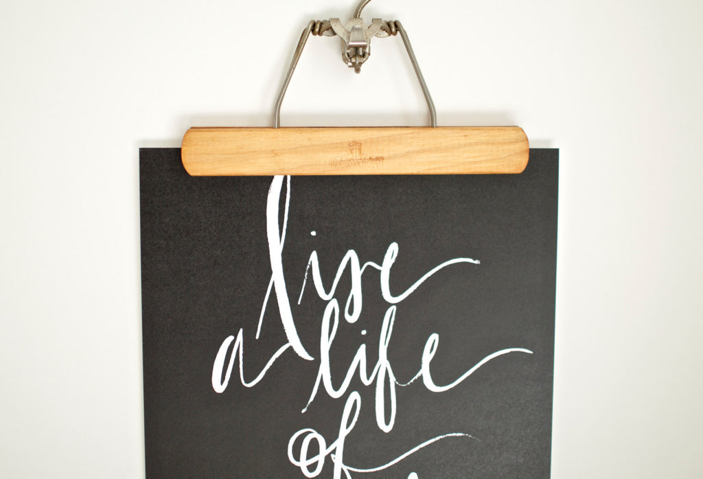 Custom Hand Printed Life of Aventure Print (Black)