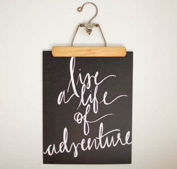 Life of Adventure Print (Black) -  - Wayfaren