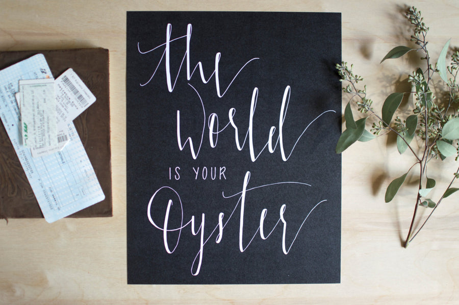 The World Is Your Oyster Print (Black) -  - Wayfaren