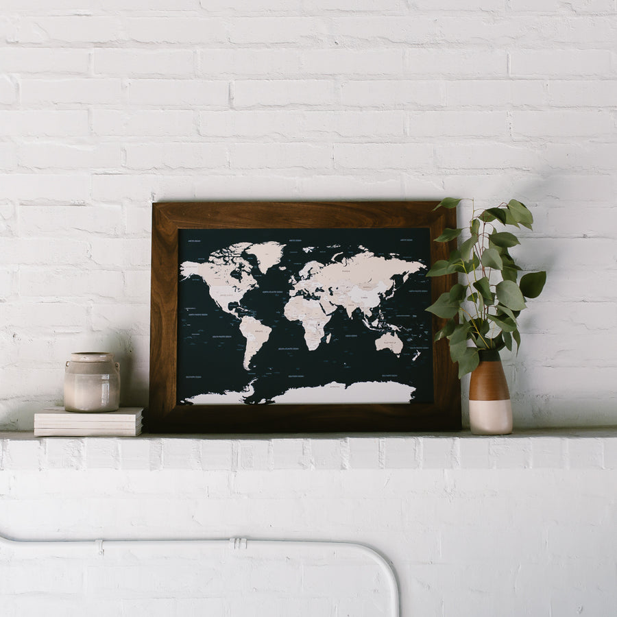 Small Navy World Push Pin Travel Map - Small World Maps - Wayfaren