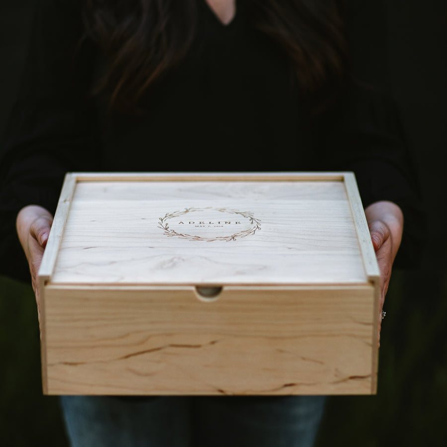 Large Maple Keepsake Box - Keepsake Boxes - Wayfaren