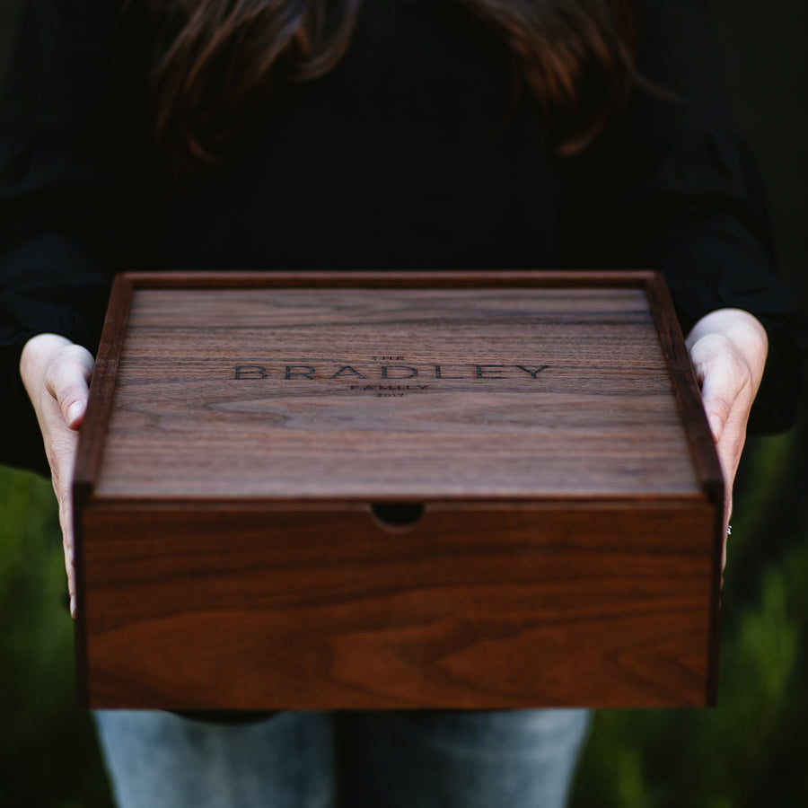 Large Walnut Keepsake Box - Keepsake Boxes - Wayfaren